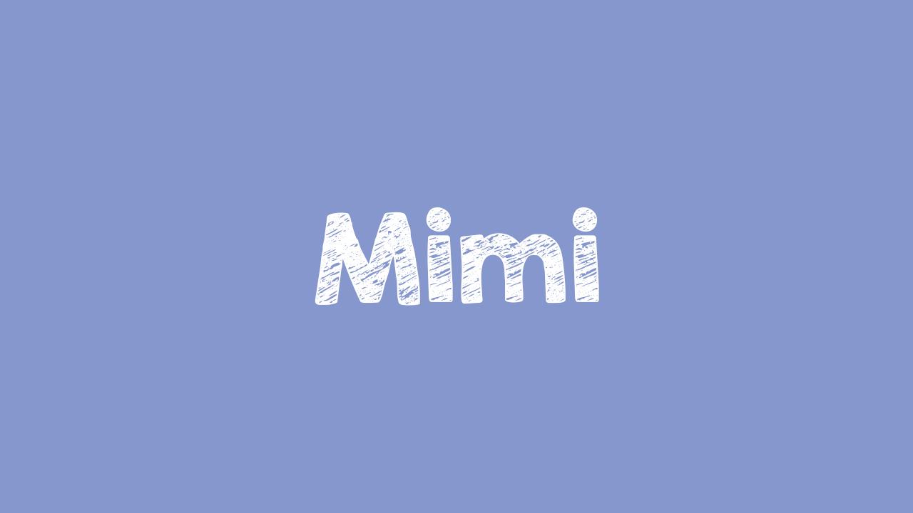 Arti Mimi