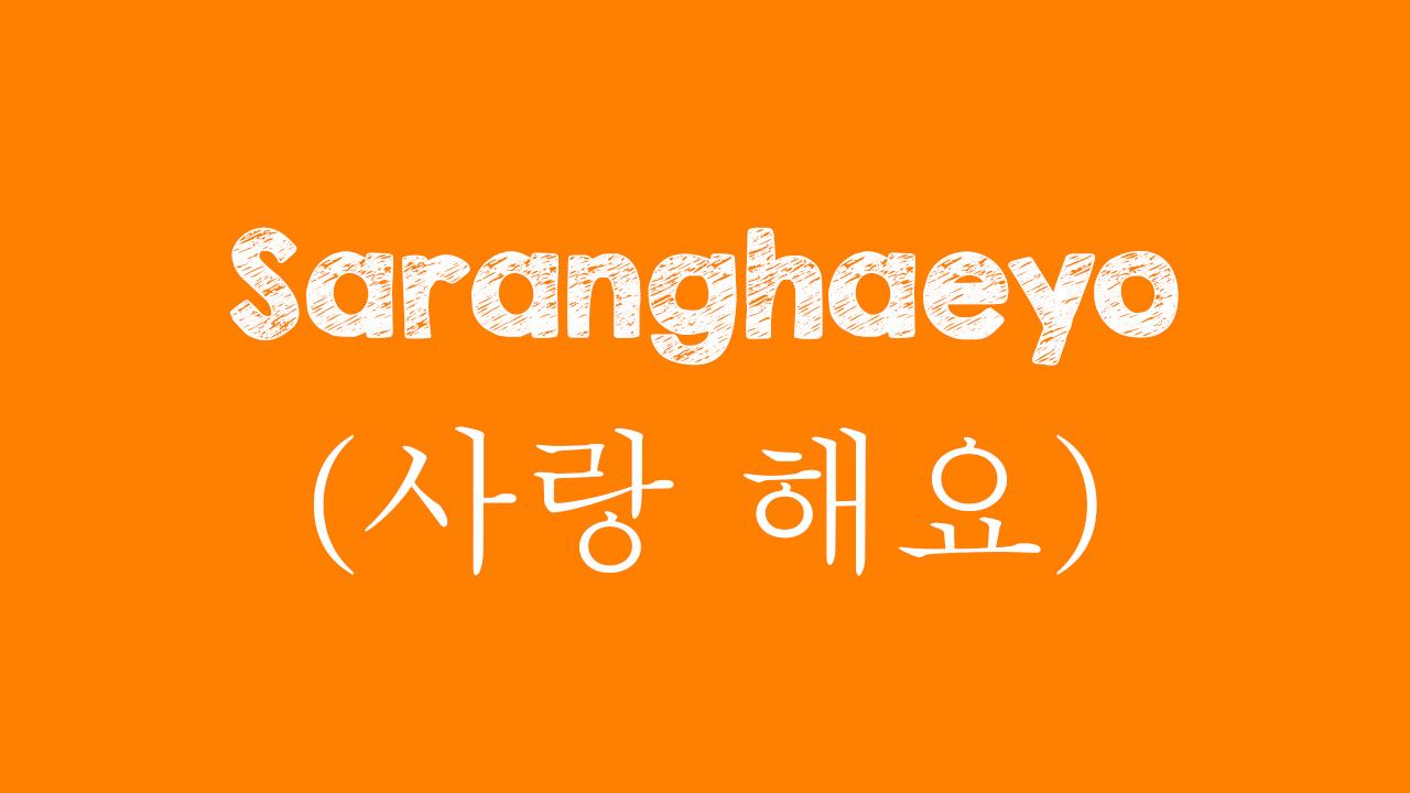 Arti Saranghaeyo