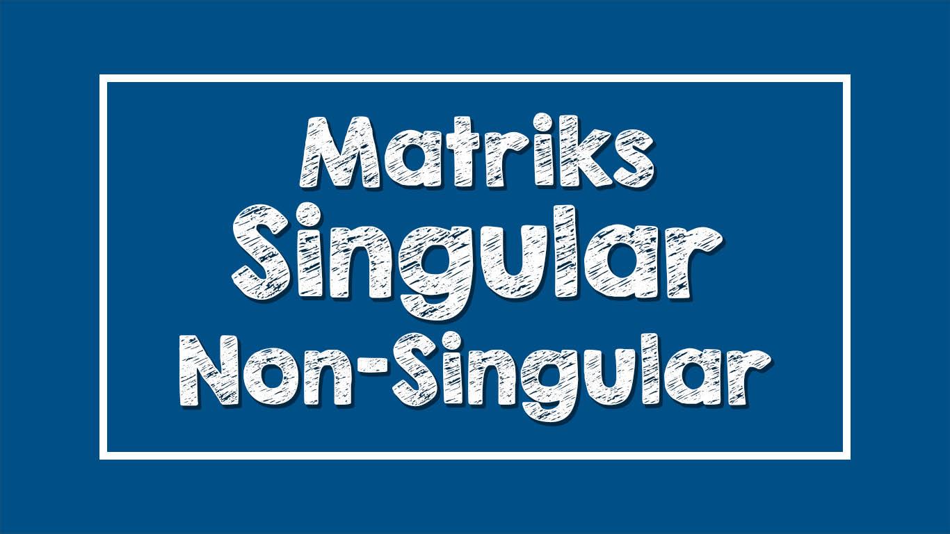 Matriks Singular dan Non-Singular (Contoh Soal)