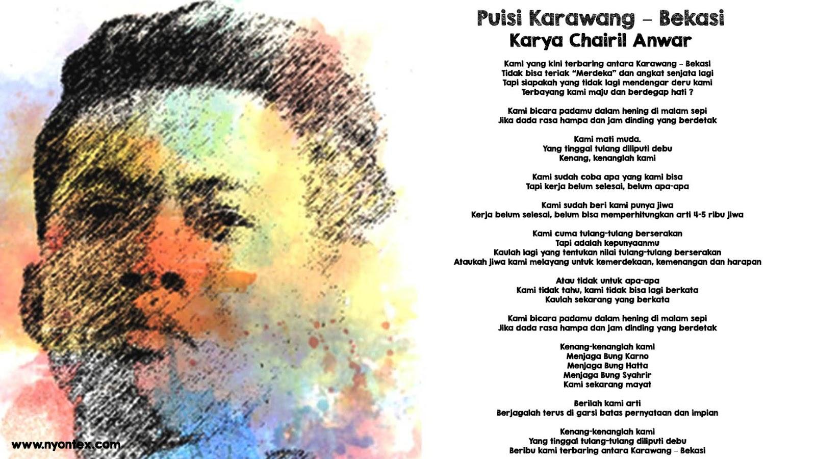 Puisi Karawang – Bekasi Karya Chairil Anwar